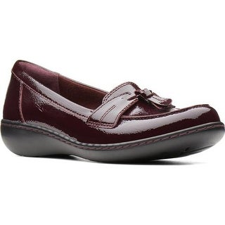 Clarks Women's Ashland Bubble Burgundy Crinkle Patent Leather