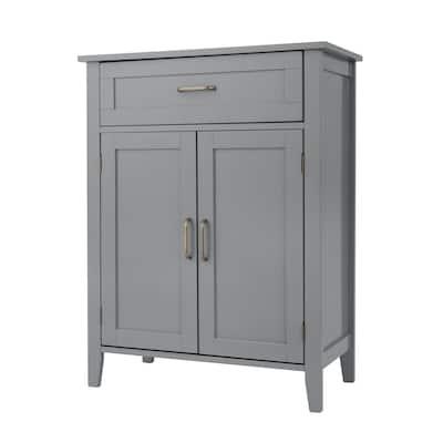 Mercer Mid Century Modern Wooden Floor Storage Cabinet