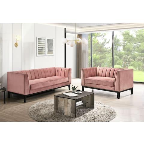 Picket House Furnishings Calabasas 2PC Living Room Set in Rose