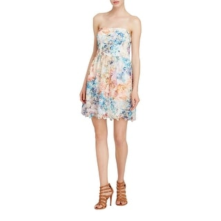 Aqua Womens Juniors Party Dress Lace Pleated