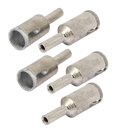 16mm Cutting Diameter Diamond Coated Glass Tile Drill Bit Hole Saws 5pcs