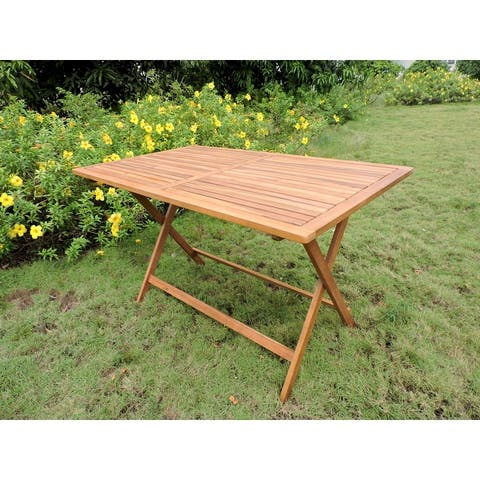 International Caravan Royal Fiji 48-inch Folding Patio Dining Table