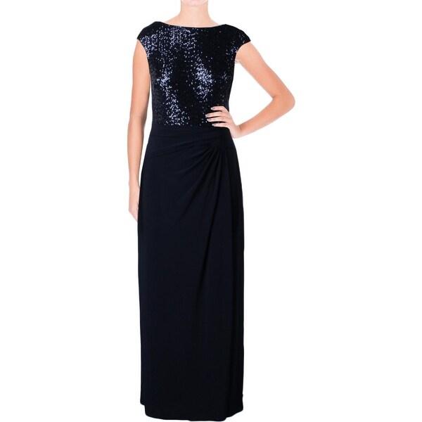 Shop Lauren Ralph Lauren Womens Petites Evening Dress Sequined ...