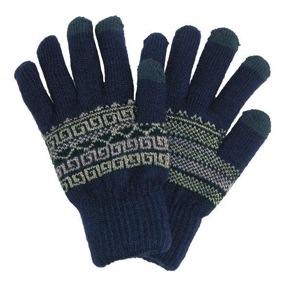CTM® Men's Fairisle Touchscreen Gloves - Free Shipping On Orders ...