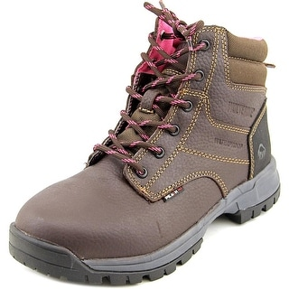 Wolverine Piper WP Lace-Up Women Round Toe Leather Work Boot