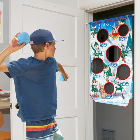GoSports Angry Elf Snowball Fight Toss Game