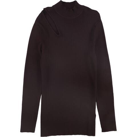 Rachel Roy Womens Rory Pullover Sweater, Purple, 1X
