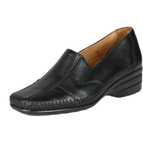 7708a2531bcd2 Spring Step Womens Kyla Slip On Comfort Flats Shoes - black. - 36 m eu