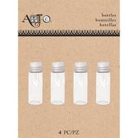 Small Clear Round; 4/Pkg - Art-C Mini Glass Bottles