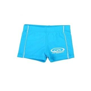 Sun Emporium Baby Boys Blue Logo Front Panel Detail Euroleg Shorts