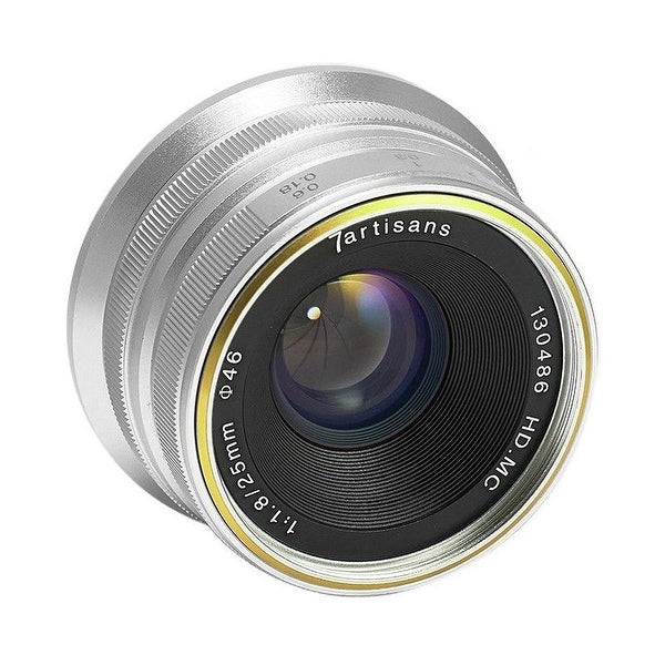 7artisans 25mm f/1.8 Manual Focus Prime Fixed Micro Four Thirds Lens (Silver) - Silver