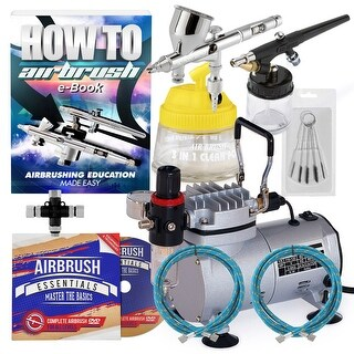 Dual Action Airbrush Kit with 2 Airbrushes