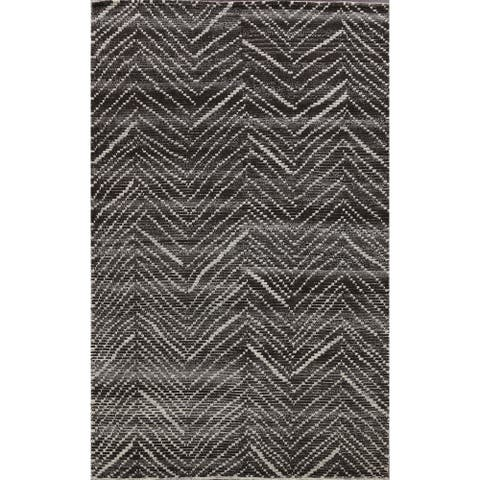 """Chevron Moroccan Oriental Foyer Size Area Rug Hand-Knotted Wool Carpet - 5'2"""" x 7'10"""""""