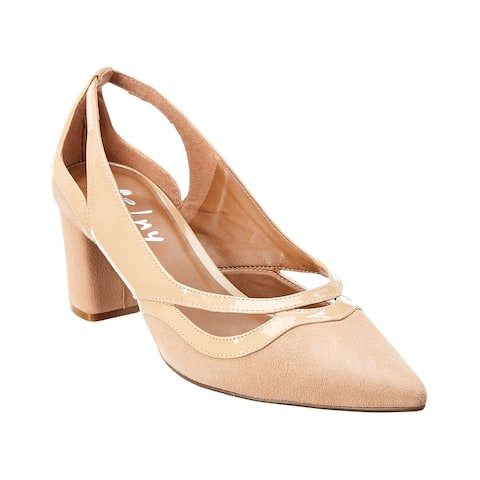 French Sole Nellie Suede & Patent Pump