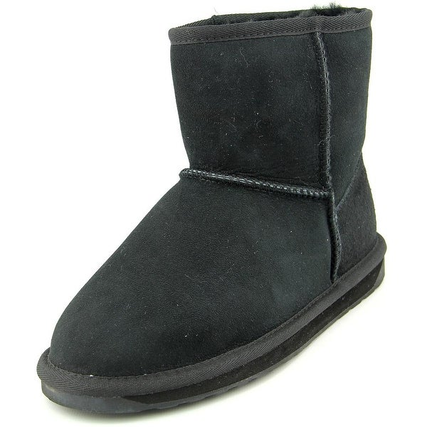 Emu Australia Stinger Mini Women Round Toe Suede Black Snow Boot