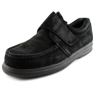 Hush Puppies Gil Men Moc Toe Suede Black Loafer