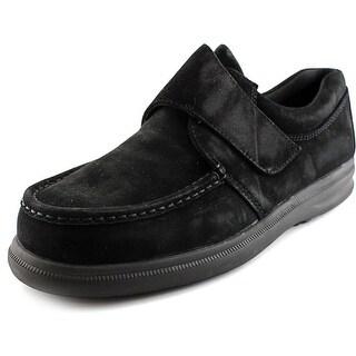 Hush Puppies Gil Men W Moc Toe Suede Black Loafer