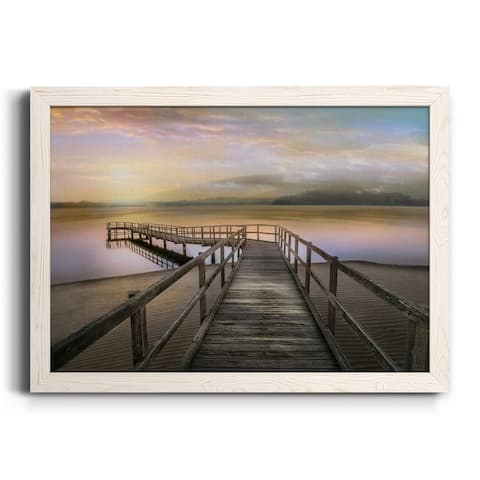Morning on the Lake-Premium Framed Canvas - Ready to Hang