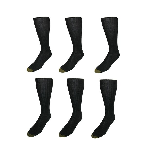 Gold Toe Men's Windsor Wool Over the Calf Socks (Pack of 6)