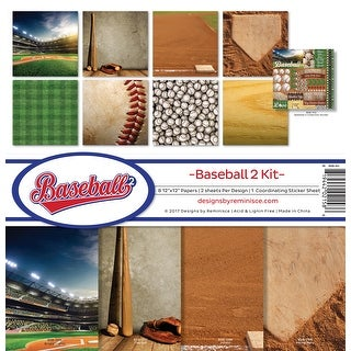 "Reminisce Collection Kit 12""X12""-Baseball 2"
