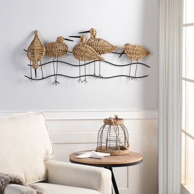StyleCraft Flock of Birds Natural Woven Seagrass Wall Art