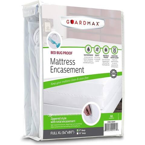 Guardmax Zippered Bed Bug Mattress Protector Encasement