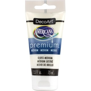 Americana Premium Acrylic Medium Paint Tube 2.5Oz-Gloss