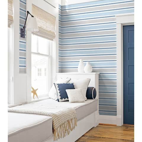 NextWall Linen Cut Stripe Peel and Stick Wallpaper - 20.5 in. W x 18 ft. L