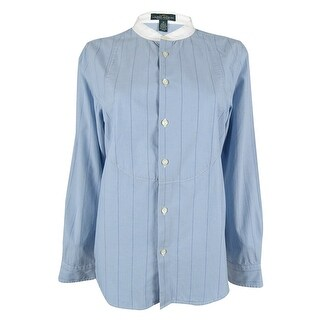 Ralph Lauren Women's Striped Shirt - Blue