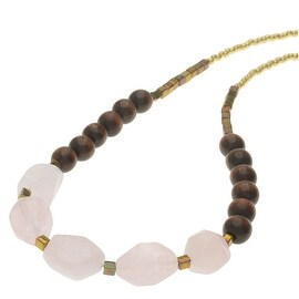 Boho Gemstone Necklace - Rose Quartz - Exclusive Beadaholique Jewelry Kit