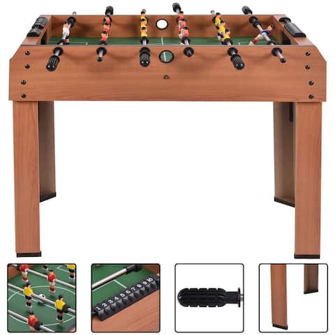 Costway 37'' Foosball Table Competition Game Soccer Arcade Sized