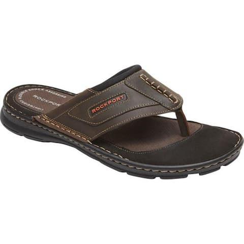 af43a3cf9c9f Rockport Men s Darwyn Thong Sandal Brown II Leather