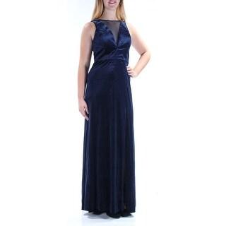 Womens Navy Sleeveless Maxi Sheath Harem Party Dress Size: 10