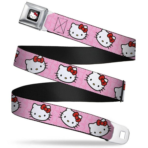 Hello Kitty W Red Bow Full Color Black Hello Kitty Random Faces W Pink Seatbelt Belt