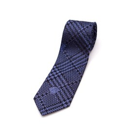Versace Collection Men's Slim Silk Tie Blue