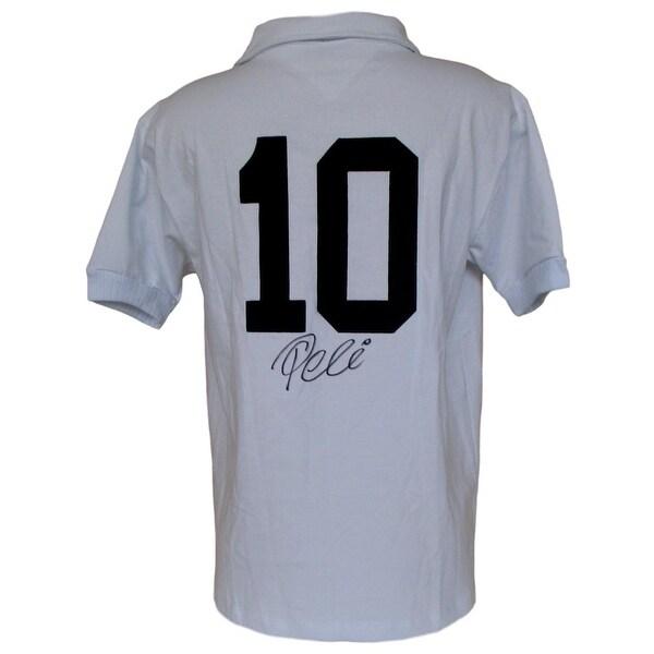 92d9a77e5 Shop Pele Signed Santos FC Soccer Jersey PSA - Free Shipping Today ...