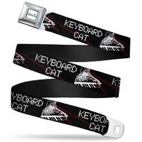 Keyboard Cat Logo White Full Color Keyboard Cat W Ray Eyes Black White Red Seatbelt Belt