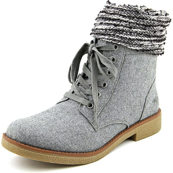 Rocket Dog Temecula Women Round Toe Canvas Gray Mid Calf Boot