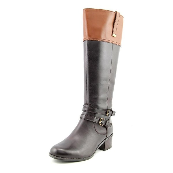 Bandolino Carlotta Women Round Toe Leather Brown Knee High Boot