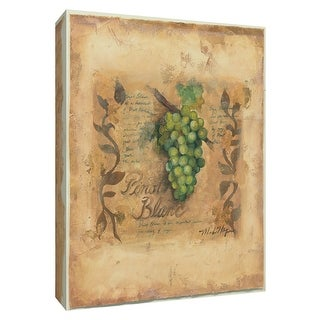 """PTM Images 9-154502  PTM Canvas Collection 10"""" x 8"""" - """"Pinot Blanc"""" Giclee Fruits & Vegetables Textual Art Print on Canvas"""