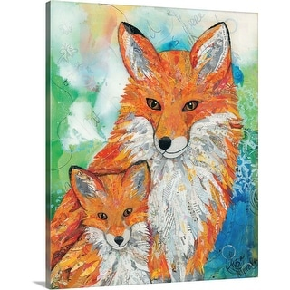 """""""Foxes"""" Canvas Wall Art"""