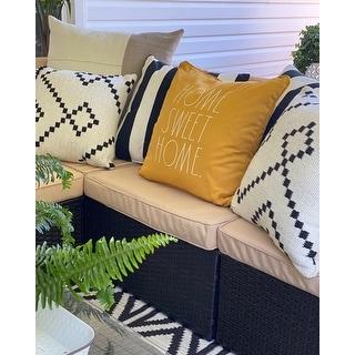 5 Pieces Patio Sets Outdoor Sectional Sofa Manual Weaving Rattan