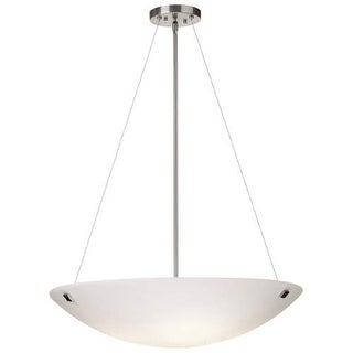 "Forecast Lighting F53736U 4 Light 30"" Wide Pendant from the Crossroads Collection - Satin Nickel"