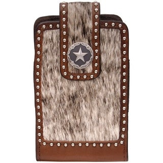 3D Western Cell Phone Case Smartphone Star Concho Brown