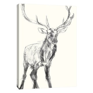 "PTM Images 9-105425  PTM Canvas Collection 10"" x 8"" - ""Young Elk"" Giclee Deer Art Print on Canvas"