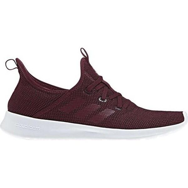 adidas Women  x27 s Cloudfoam Pure Sneaker Maroon Maroon Trace Maroon e0510912419b
