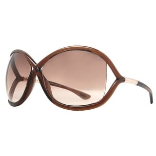 Tom Ford Whitney TF009 692 Brown Gradient Women's Oversize Soft Round Sunglasses - 64mm-14mm-110mm