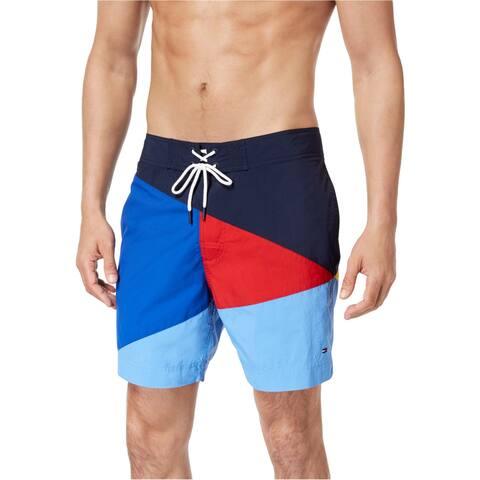 Tommy Hilfiger Mens Searay Colorblocked Swim Bottom Trunks