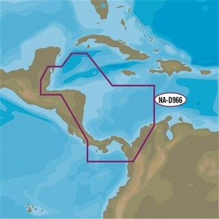 C-Map NA-D966 4D Belize to Panama Local Map