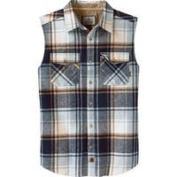Legendary Whitetails Men's Big Country Sleeveless Flannel - Pacific Shore Blue Plaid